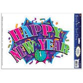 New Years Decorations Happy New Year Cling Image
