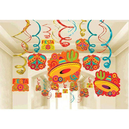 Cinco de Mayo Decorations Fiesta Foil Swirl Mega Pack Image