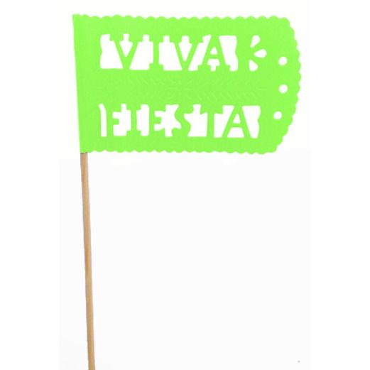 Cinco de Mayo Decorations Light Green Fiesta Flag Image