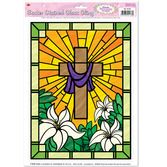 Easter Decorations Stained Glass Cling Image