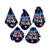 New Years Hats & Headwear Neon Midnight Cone Hat Image