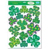 St. Patrick's Day Decorations Shamrock Clings Image