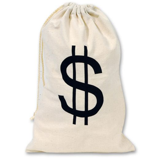 Casino Gift Bags & Paper Big Money Bag Image
