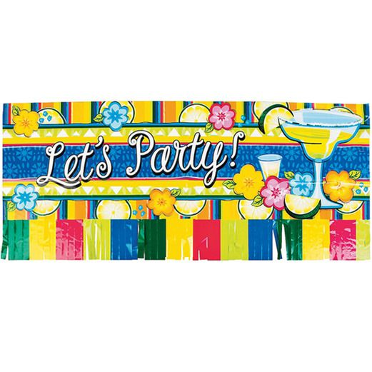 "Cinco de Mayo Decorations ""Let's Party!"" Fringed Banner Image"