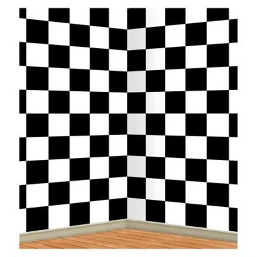 Fifties Decorations Checkered Backdrop Image
