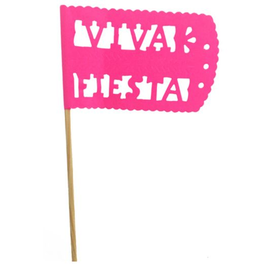Cinco de Mayo Decorations Hot Pink Fiesta Flag Image