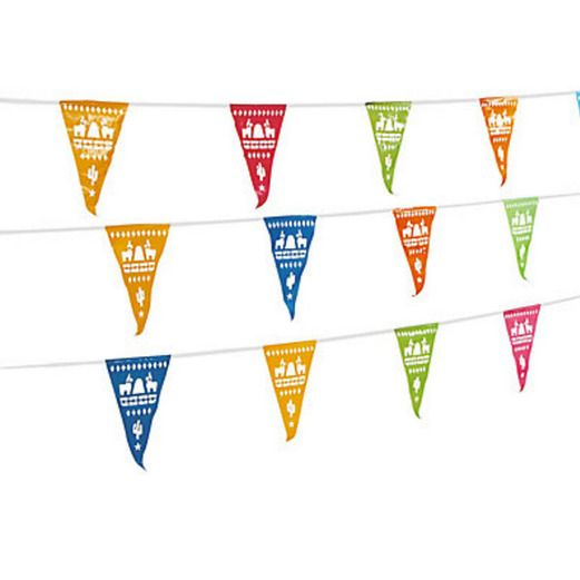 Fiesta Decorations Fiesta Cut Out Pennant Banner Image