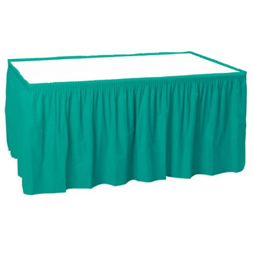 Table Accessories Teal Table Skirt Image