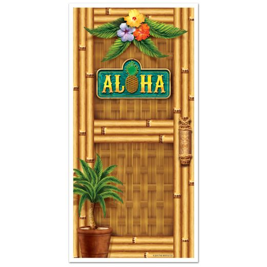Luau Decorations Aloha Door Cover Image