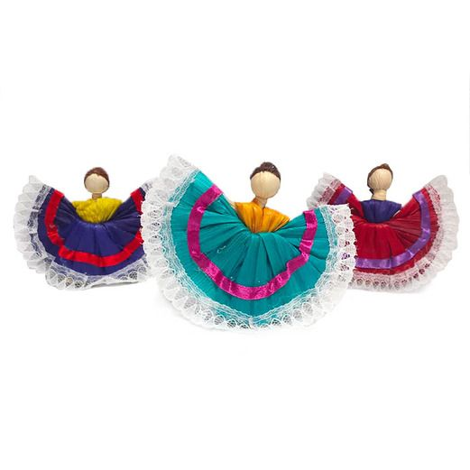 Fiesta Decorations Mini Folklorico Dancer Image