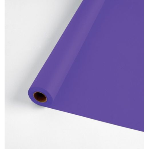 Mardi Gras Table Accessories 100' Table Roll Purple Image