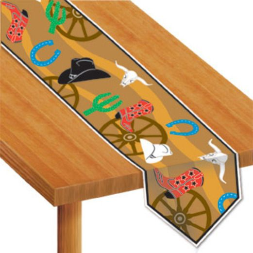 Western Table Accessories Western Icons Table Runner Image