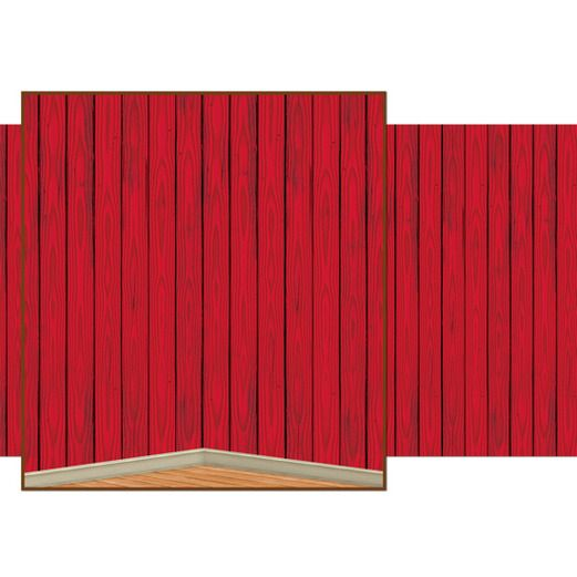 Western Decorations Red Barn Siding Backdrop Image