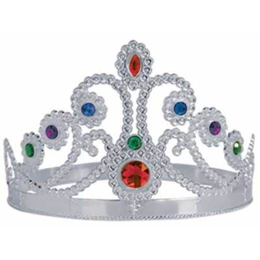 Mardi Gras Hats & Headwear Jeweled Silver Queen's Tiara Image