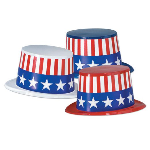 4th of July Hats & Headwear Patriotic Top Hat Image