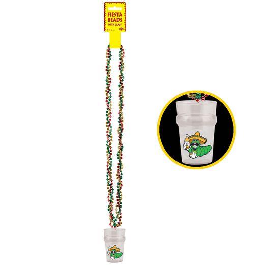 Cinco de Mayo Party Wear Fiesta Shot Glass Bead Necklace Image