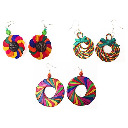 Fiesta Decorations Assorted Multicolor Earrings Image