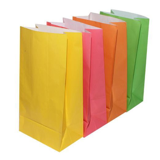 Birthday Party Gift Bags & Paper Neon Party Bags Image