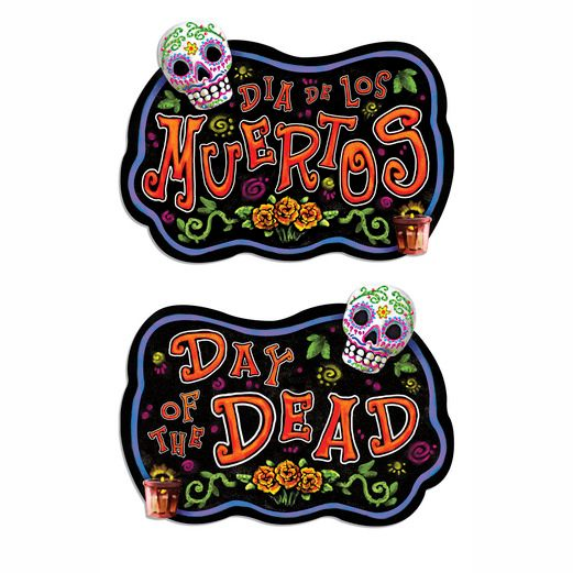 Day of the Dead Decorations Day of the Dead Sign Image
