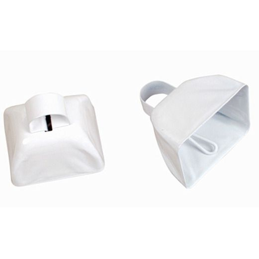 Favors & Prizes / Noisemakers White Metal Cow Bell Image