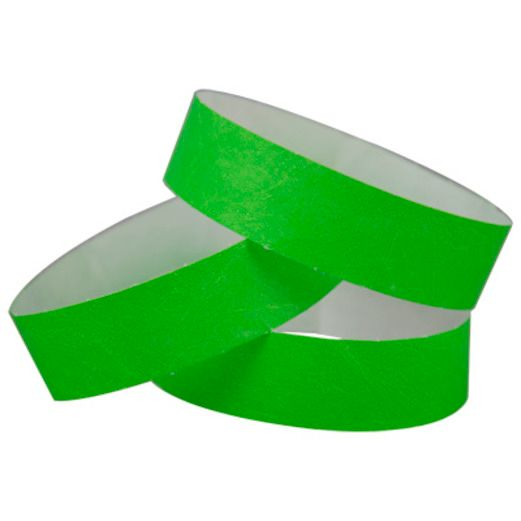 WB Tyvek Wristbands Lime Green Image