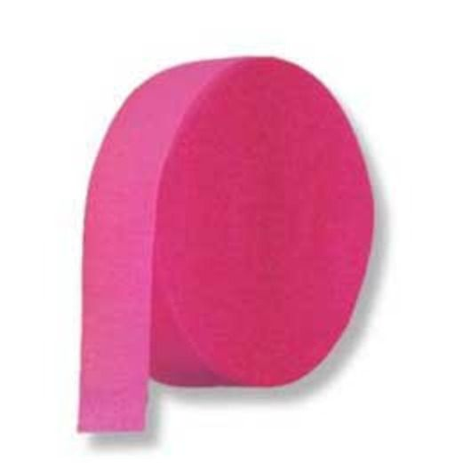 Valentine's Day Decorations Crepe Streamer Hot Pink Image