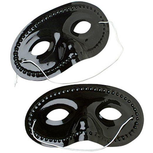 Party Wear / Masks Black Half Masks Image
