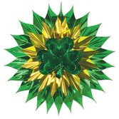 St. Patrick's Day Decorations Shamrock Fan Burst Image