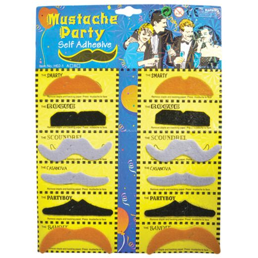 Halloween Party Wear Mustaches Image
