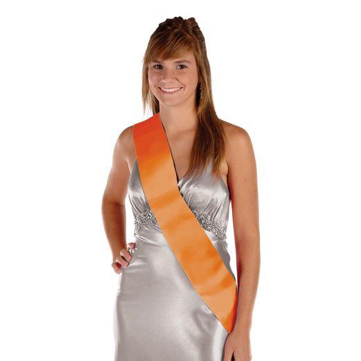 Party Wear Orange Satin Sash Image