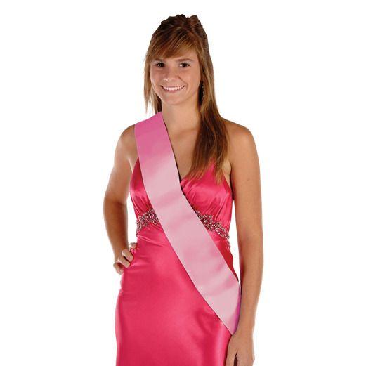 Party Wear Pink Satin Sash Image