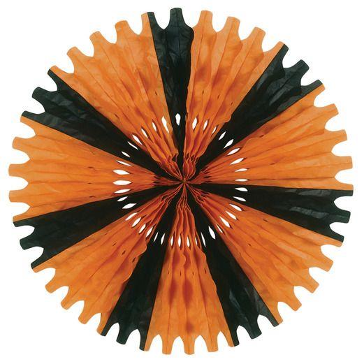 Orange-Black Tissue Fan