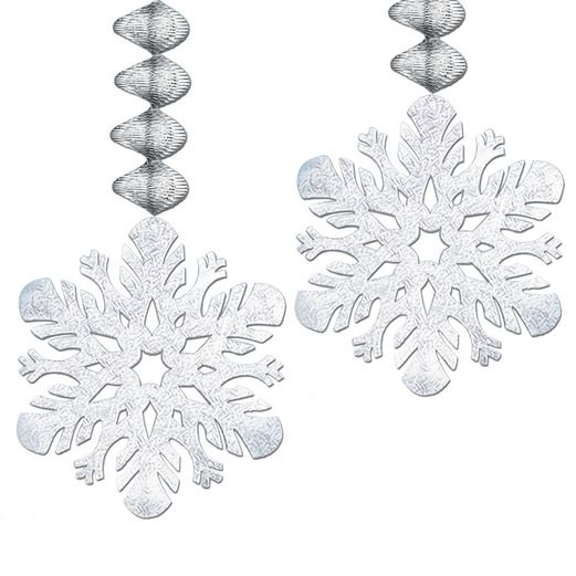 Christmas Decorations Foil Snowflake Dangler Image