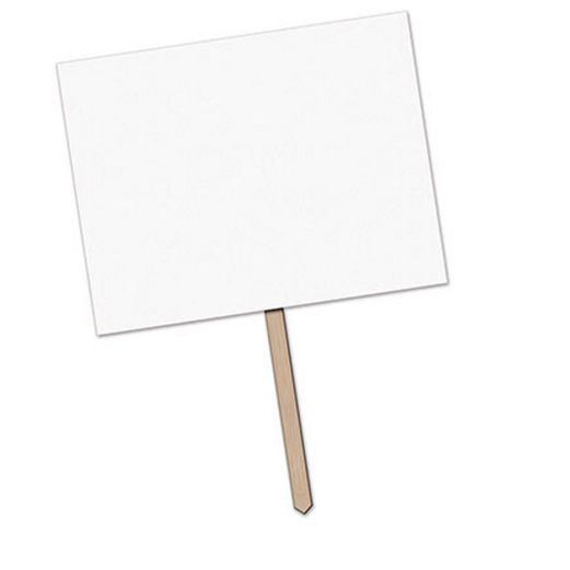 Decorations Blank Yard Sign Image