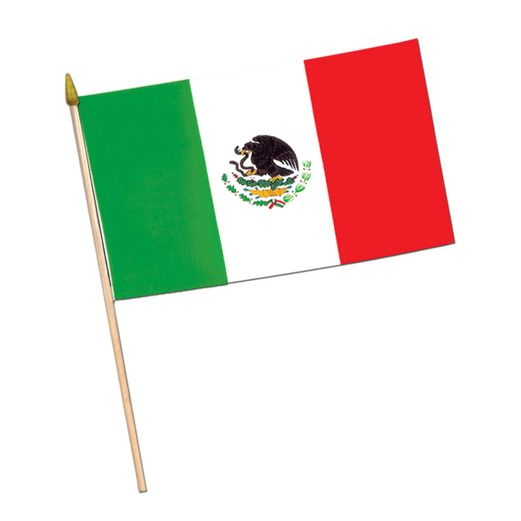 "Cinco de Mayo Decorations 11""x18"" Mexican Rayon Flags Image"