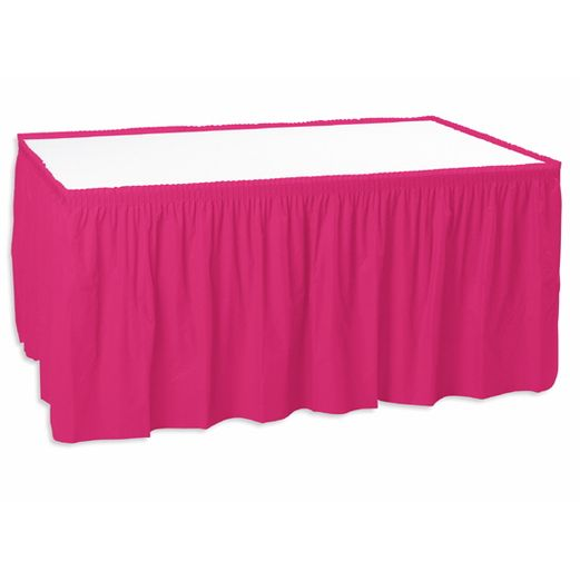 Valentine's Day Table Accessories Hot Pink Table Skirt Image