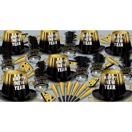 New Years Party Kits Gold Entertainer for 50 Image