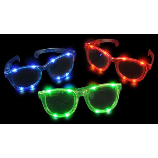 Fiesta Glow Lights Light Up Jumbo Sunglasses Image