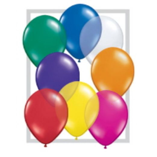 "Balloons 16"" Assorted Color Jewel Tone Balloons Image"