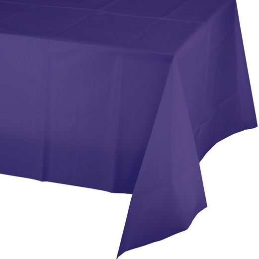 Mardi Gras Table Accessories Rectangular Table Cover Purple Image