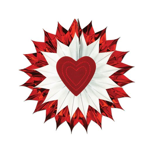 Valentine's Day Decorations Heart Fan-Burst Image