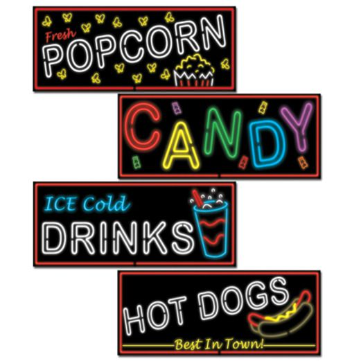 Neon Food Sign Cutouts