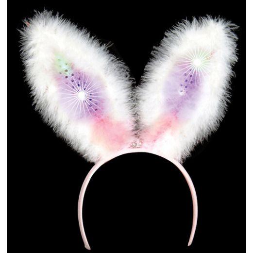 Cinco de Mayo Light Up Sequin Bunny Ears Image
