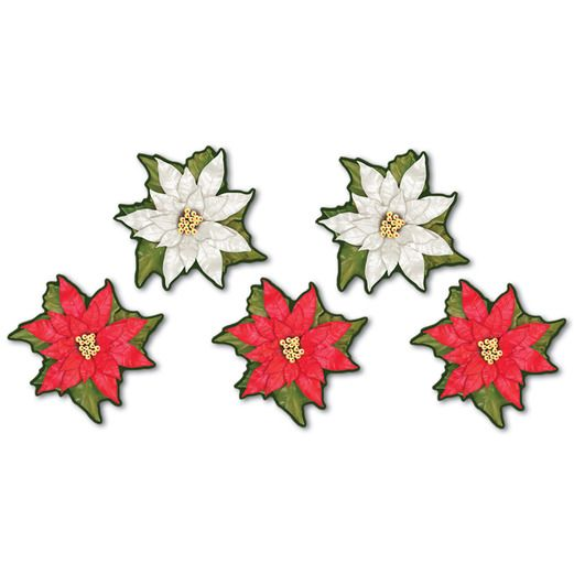 Winter Wonderland Decorations Mini Poinsettia Cutouts Image