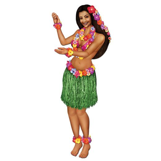 Luau Decorations Hula Girl Cutout Image