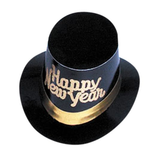 Gold Happy New Year Top Hat