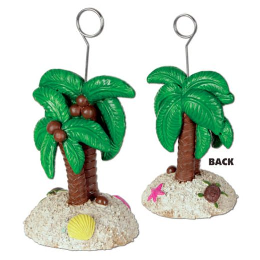 Luau Decorations Palm Tree Photo Holder Image