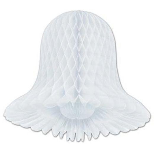 "Wedding Decorations 15"" White Tissue Bell Image"