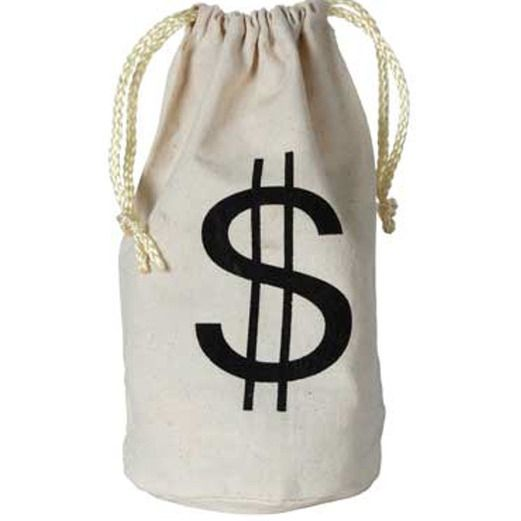 Casino Gift Bags & Paper Dollar Sign Bag Image