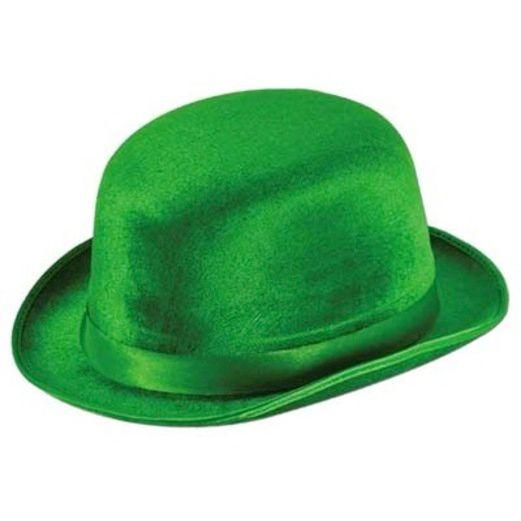 Hats & Headwear / Derbies, Fedoras, & Toppers Green Vel-Felt Derby Image